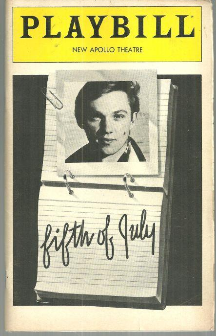 FIFTH OF JULY, NEW APOLLO THEATRE, AUGUST 1981, Playbill