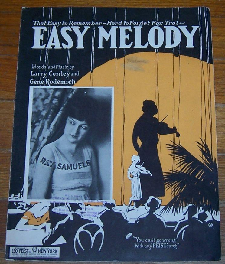 EASY MELODY That Easy to Remember-Hard to Forget Fox Trot, Sheet Music