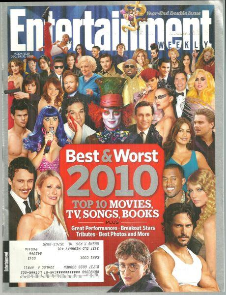 ENTERTAINMENT WEEKLY MAGAZINE DECEMBER 24/31, 2010 Year-End Double Issue, Entertainment Weekly
