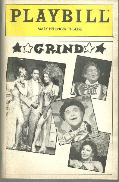 GRIND, MARK HELLINGER THEATRE, MAY 1985, Playbill