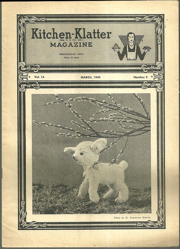 KITCHEN KLATTER MAGAZINE MARCH 1949, Driftmier, Leanna Field