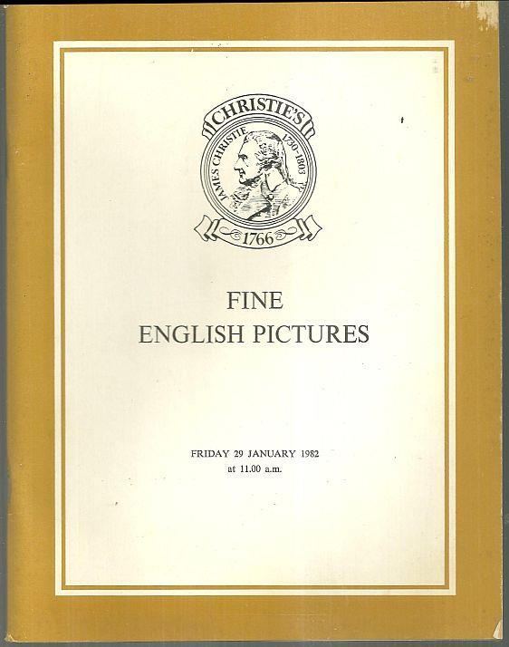 FINE ENGLISH PICTURES Friday, 29 January 1982 At 11.00 A. M., Christie's