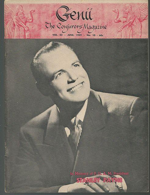 GENII THE CONJURORS' MAGAZINE JUNE 1959, Genii Magazine