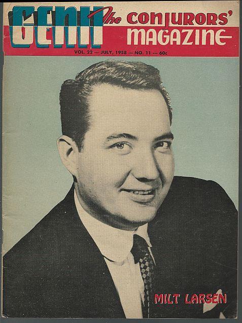 GENII THE CONJURORS' MAGAZINE JULY 1958, Genii Magazine