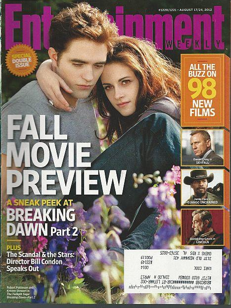 ENTERTAINMENT WEEKLY MAGAZINE AUGUST 17/24, 2012 Special Double Issue, Entertainment Weekly