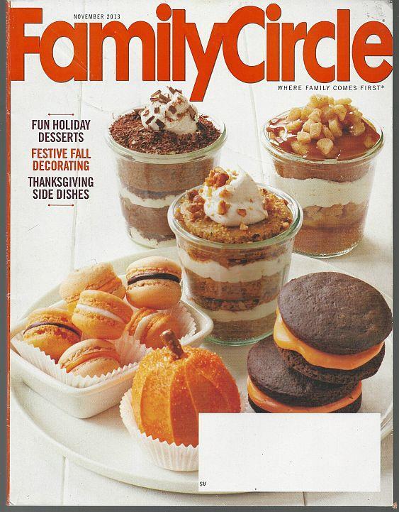 FAMILY CIRCLE MAGAZINE NOVEMBER 2013, Family Circle