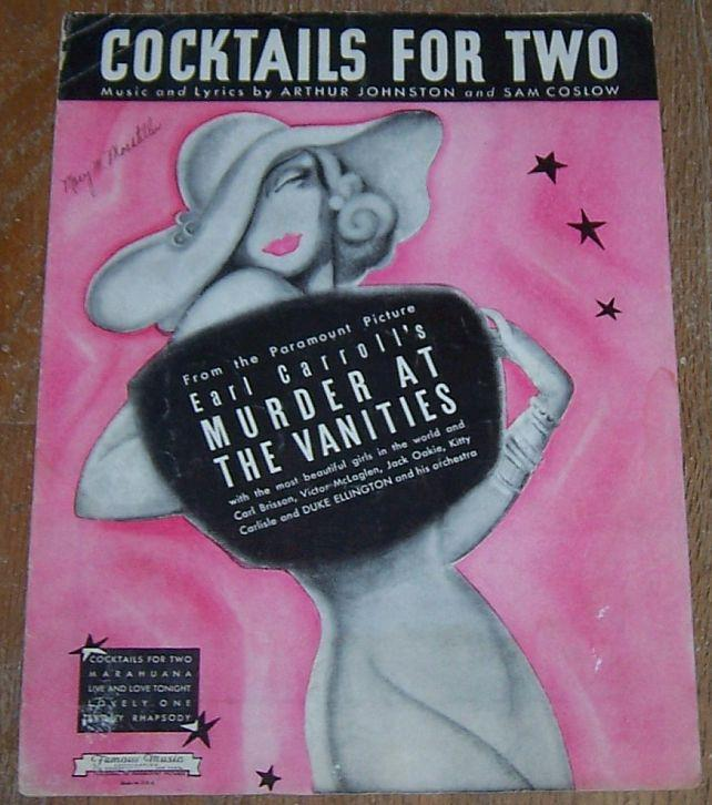 COCKTAILS FOR TWO, Sheet Music