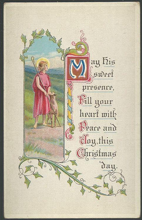CHRISTMAS POSTCARD WITH SHEPHERD, Postcard