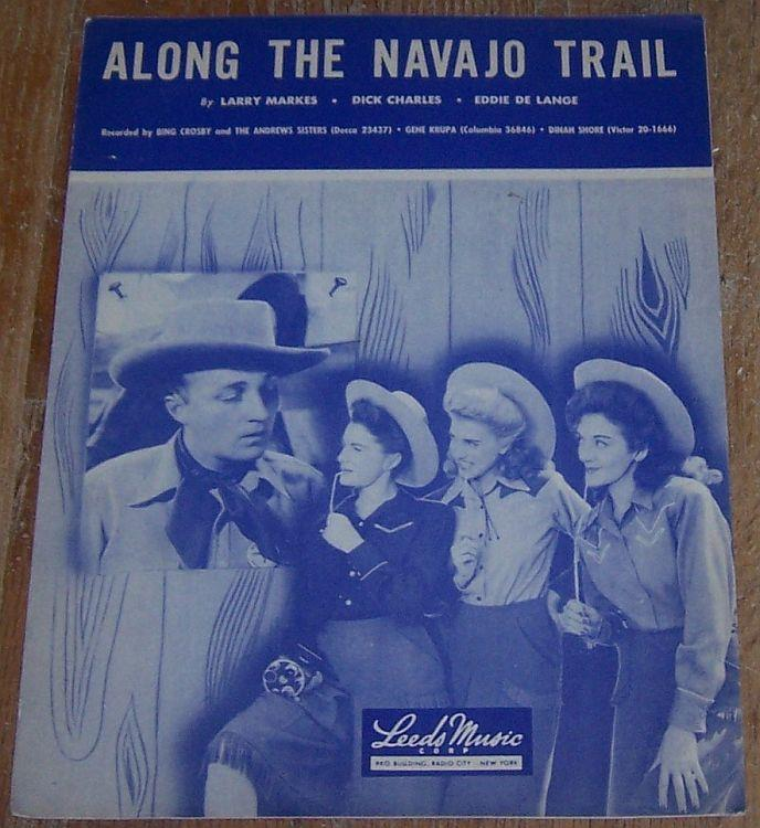 ALONG THE NAVAJO TRAIL, Sheet Music