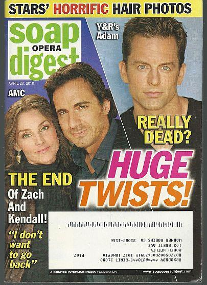 SOAP OPERA DIGEST APRIL 20, 2010, Soap Opera Digest