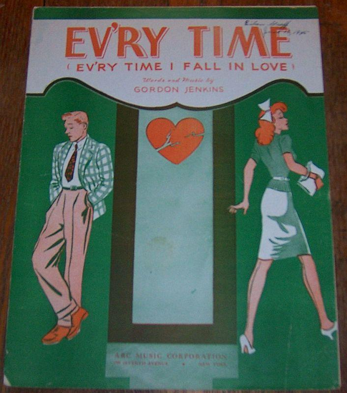 EV'RY TIME (EV'RY TIME I FALL IN LOVE), Sheet Music