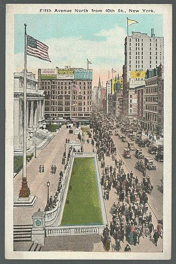 FIFTH AVENUE NORTH FROM 40TH STREET, NEW YORK CITY, NEW YORK, Postcard