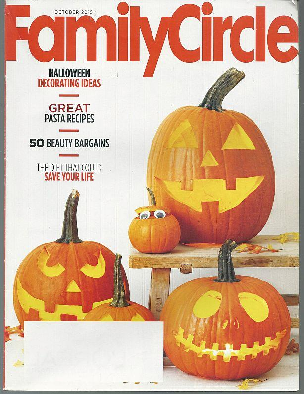 FAMILY CIRCLE MAGAZINE OCTOBER 2015, Family Circle