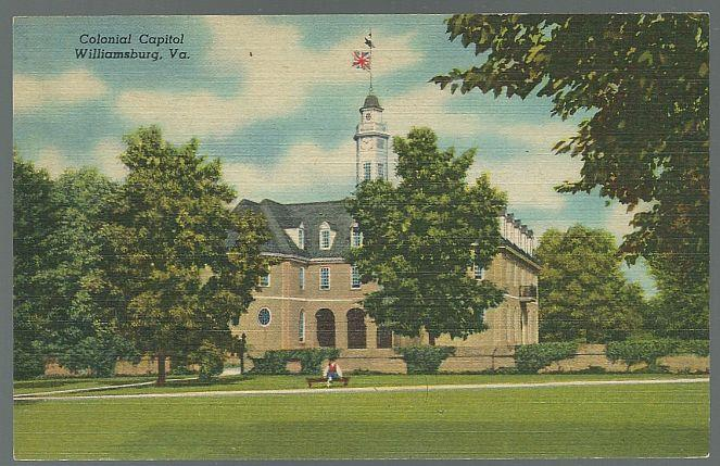 COLONIAL CAPITOL, WILLIAMSBURG, VIRGINIA, Postcard