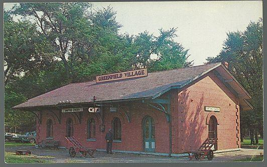 POSTCARD OF SMITH CREEK DEPOT, GREENFIELD VILLAGE, DEARBORN, MICHIGAN, Postcard