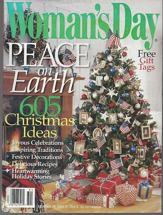 WOMAN'S DAY MAGAZINE DECEMBER 18, 2001, Woman's Day