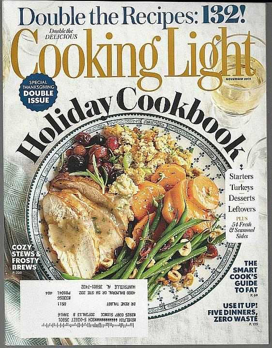 COOKING LIGHT MAGAZINE NOVEMBER 2015, Cooking Light