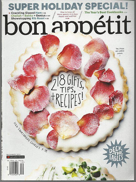 BON APPETIT MAGAZINE DECEMBER 2014, Bon Appetit