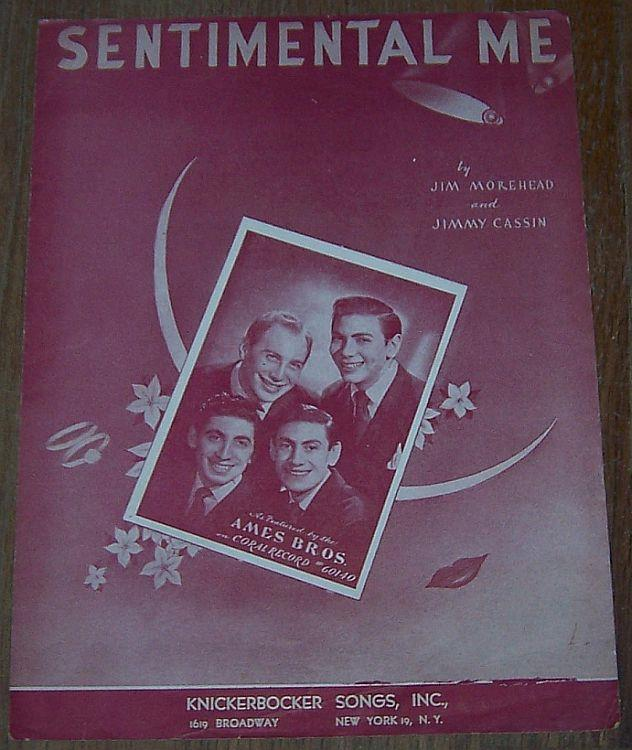SENTIMENTAL ME, Sheet Music