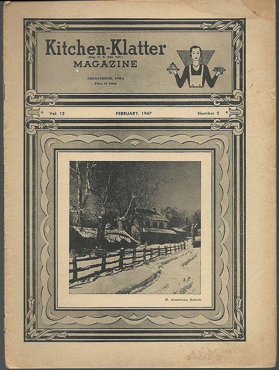 KITCHEN KLATTER MAGAZINE FEBRUARY 1947, Driftmier, Leanna Field