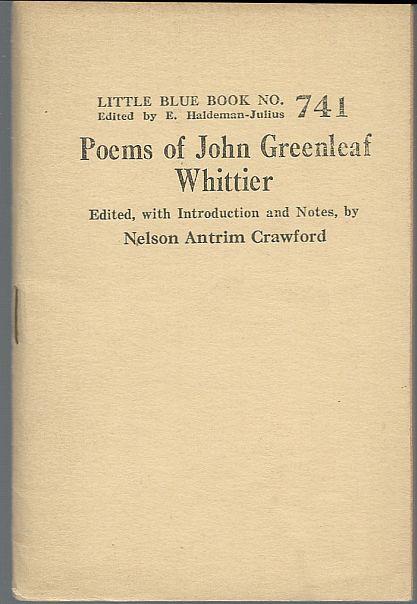 POEMS OF JOHN GREENLEAF WHITTIER, Whittier, John Greenleaf