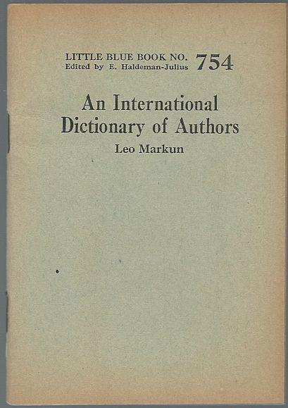 INTERNATIONAL DICTIONARY OF AUTHORS, Markun, Leo