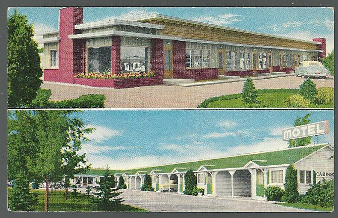 POSTCARD - Eastwood Motel, Spokane, Washington
