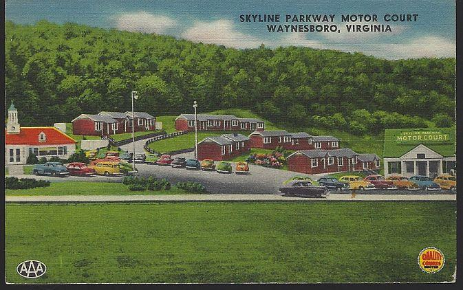 SKYLINE PARKWAY MOTOR COURT, WAYNESBORO, VIRGINIA, Postcard