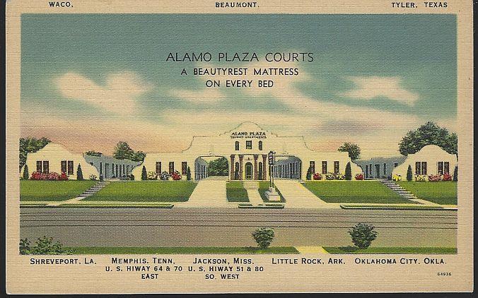 ALAMO PLAZA COURTS, Postcard
