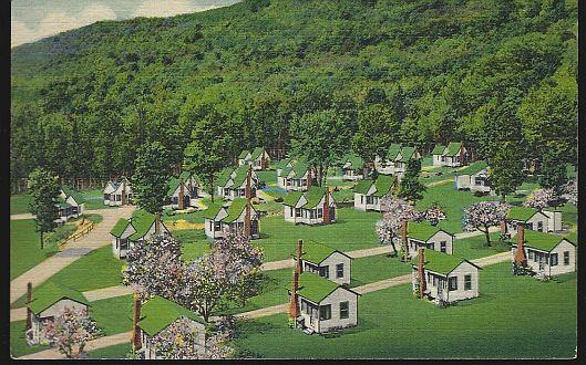 PART OF ENGLISH VILLAGE WEST, INDIAN HEAD, FRANCONIA NOTCH, NEW HAMPSHIRE, Postcard