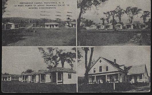 GREENRIDGE CABINS, FRANCONIA, NEW HAMPSHIRE, Postcard