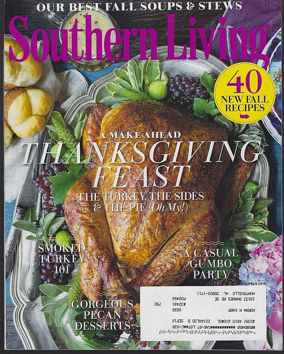 SOUTHERN LIVING MAGAZINE NOVEMBER 2015, Southern Living