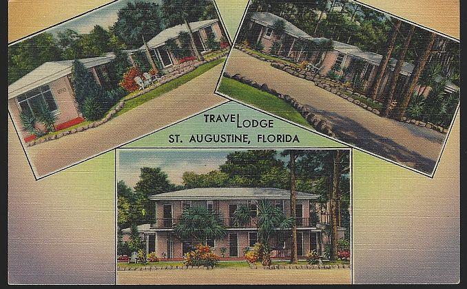 TRAVELODGE, ST. AUGUSTINE, FLORIDA, Postcard
