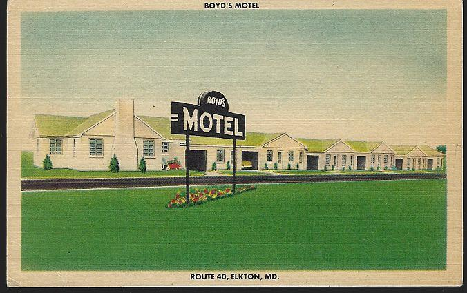 BOYD'S MOTEL, ROUTE 40, ELKTON, MARYLAND, Postcard