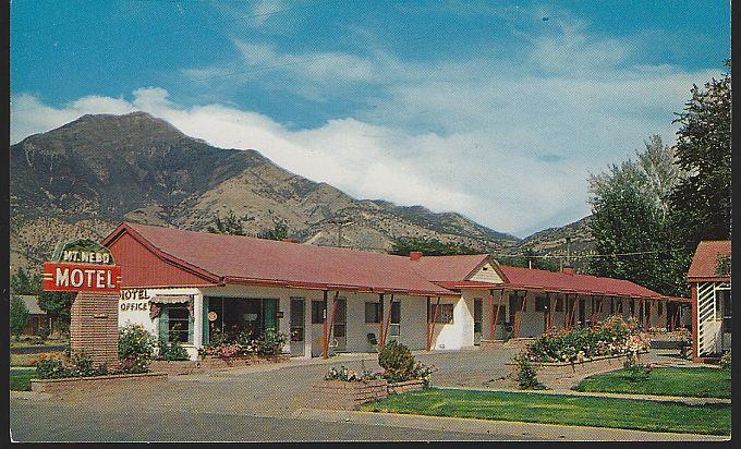 POSTCARD - Mt. Nebo Motel, Nephi, Utah