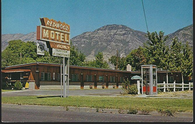 REDWOOD MOTEL, PROVO, UTAH, Postcard