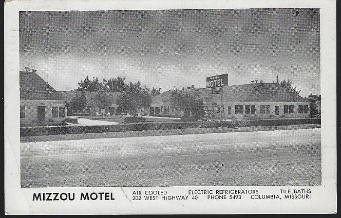 MIZZOU MOTEL, COLUMBIA, MISSOURI, Postcard