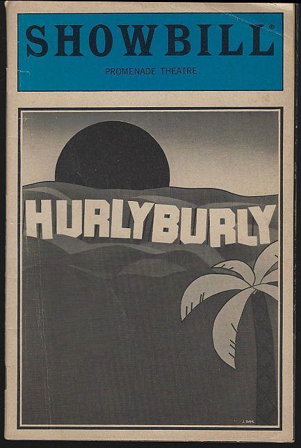 HURLYBURLY, PROMENADE THEATRE, JUNE 1984, Showbill