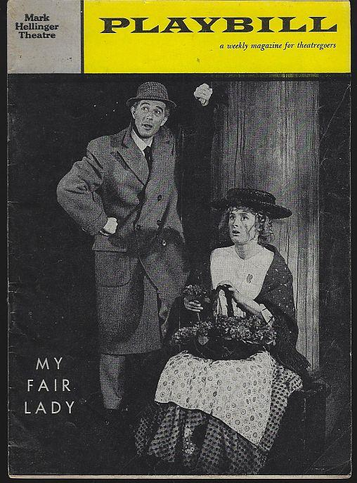 MY FAIR LADY, MARK HELLINGER THEATRE, DECEMBER 26, 1960, Playbill