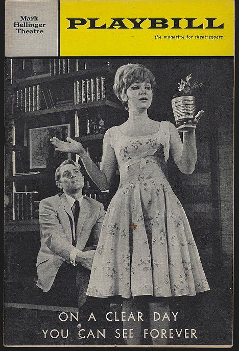 ON A CLEAR DAY YOU CAN SEE FOREVER, MARK HELLINGER THEATRE, APRIL 1966, Playbill