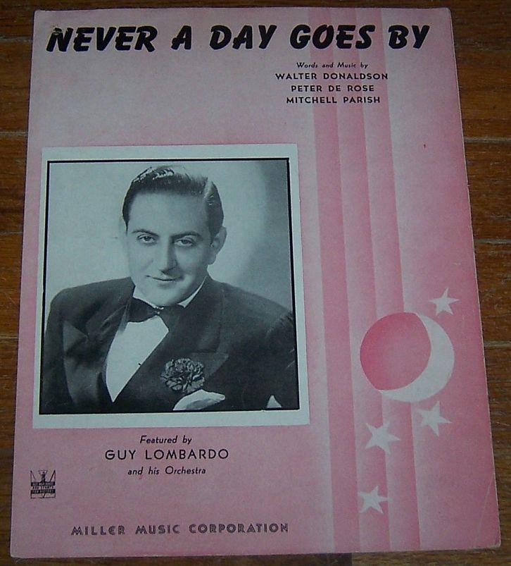 NEVER A DAY GOES BY, Sheet Music
