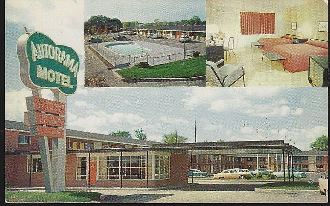 AUTORAMA MOTEL, FLINT, MICHIGAN, Postcard