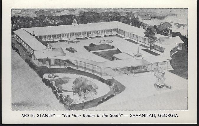 MOTEL STANLEY, SAVANNAH, GEORGIA, Postcard