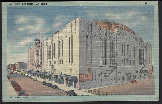 CHICAGO STADIUM, CHICAGO, ILLINOIS, Postcard