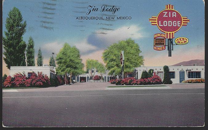 ZIA LODGE, ALBUQUERQUE, NEW MEXICO, Postcard