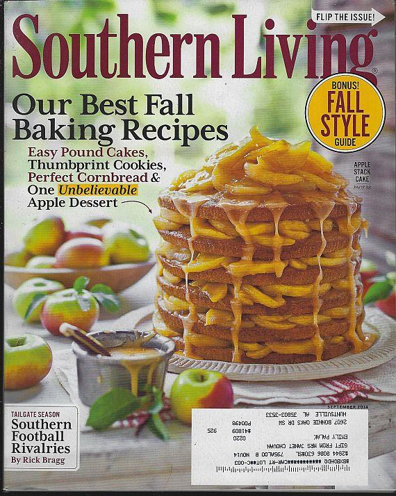 SOUTHERN LIVING MAGAZINE SEPTEMBER 2014, Southern Living