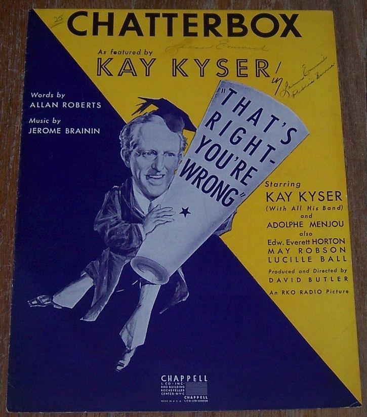 CHATTERBOX, Sheet Music