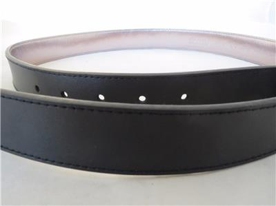 womens michael kors black leather silver buckle belt size