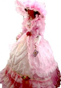 Porcelain Umbrella Doll 38 Quot Tall Victorian Style Light