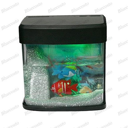 Mini usb battery powered fish tank aquarium led light ebay for Battery operated fish